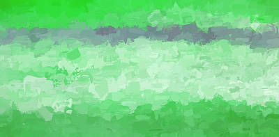Photograph -  Abstract No 1 Forest Green by Rich Franco