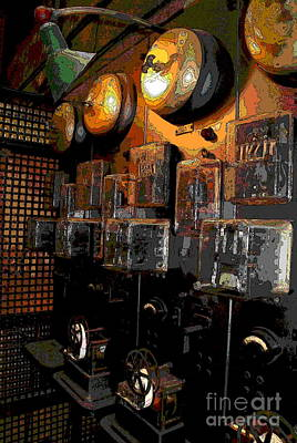 Photograph -  Abstract - First Computer By Westinghouse by Jacqueline M Lewis