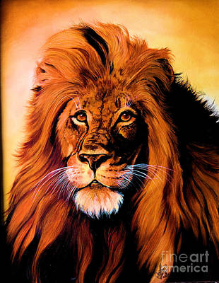 Painting -  African Lion by Cheryl Poland