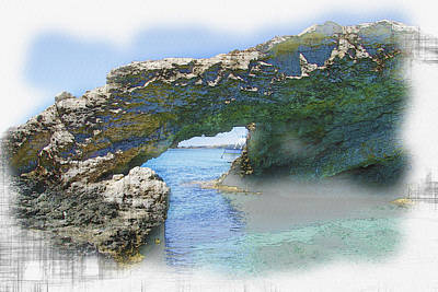 Agia Napa Arch Art Print by Don Kuing