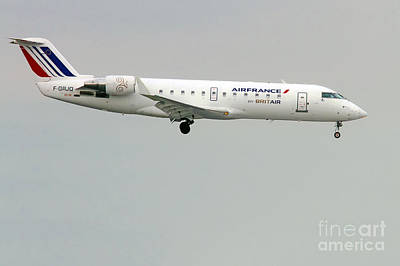 Photograph -  Air France By Britair Canadair- Msn 7321- F-grjq  by Amos Dor