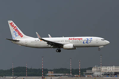 Print featuring the photograph  Aireuropa - Boeing 737-800 - Ec-jbk  by Amos Dor
