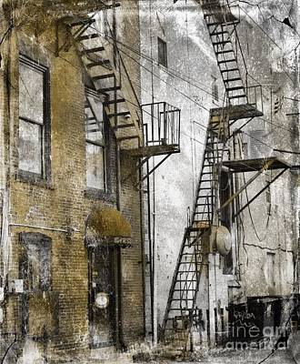 Photograph -  Alleyway In Portland, Me by Marcia Lee Jones