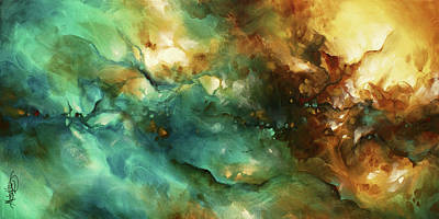 Earth Tones Painting -  ' Alluring Space ' by Michael Lang