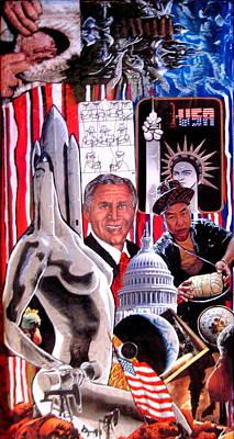 Political Mixed Media -  American Waste by Nunzio Barbera