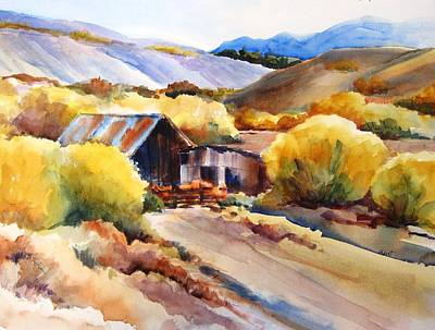 Painting -  An Old Barn On The Little Walker River by Lynn Marit Peterson