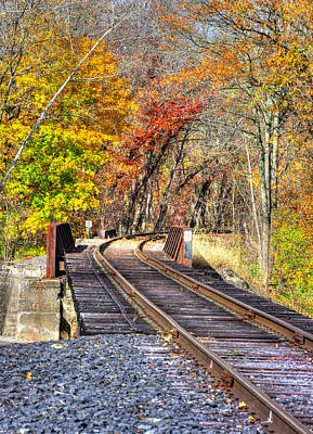 Photograph - ... And The Steel Rails Still Ain't Heard The News No. 3 - Near Rupert, Columbia County Pa by Michael Mazaika