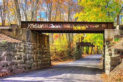 Photograph - ... And The Steel Rails Still Ain't Heard The News No. 4 - Near Rupert, Columbia County Pa by Michael Mazaika