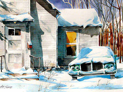 Painting -  Another Snow Day by Art Scholz