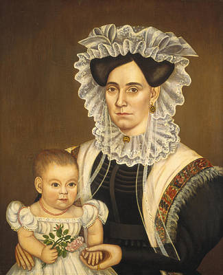Painting -  Aphia Salisbury Rich And Baby Edward by Milton W  Hopkins