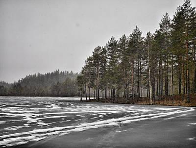 Photograph -  April Snow 3 by Jouko Lehto