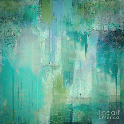 Abstract Paint Painting -  Aqua Circumstance Abstract by Mindy Sommers