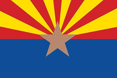 Arizona State Flag Print by American School