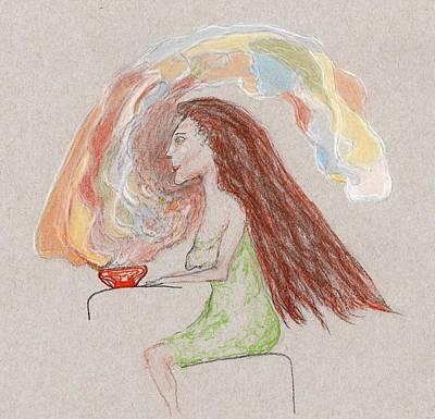 Drawing -  Aroma Therapy by Jim Taylor