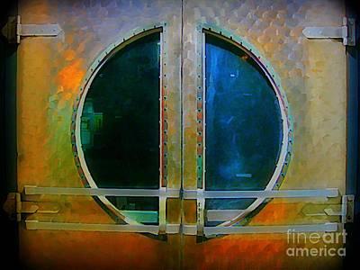 Malone Painting -  Art Deco Door In Halifax Nova Scotia by John Malone