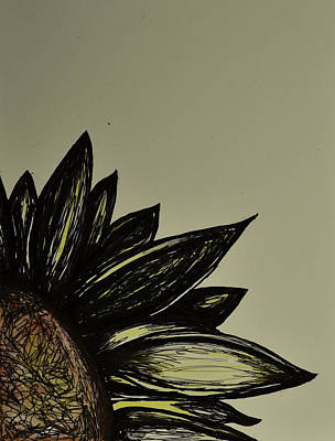 Drawing -  Art  Of The Sunflower by Rae Ann  M Garrett