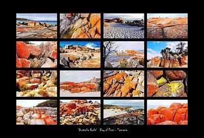 Photograph - ' Australia Rocks ' - Bay Of Fires - Tasmania by Lexa Harpell