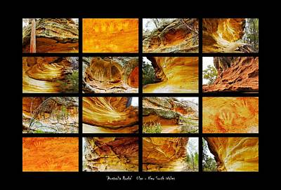 Photograph - ' Australia Rocks ' - Hands On Rock - Ulan, New South Wales by Lexa Harpell