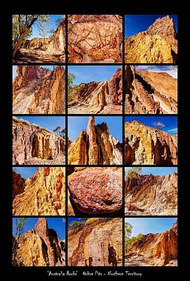 Photograph - ' Australia Rocks '  Ochre Pits by Lexa Harpell