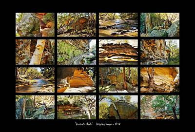 Photograph - ' Australia Rocks ' - The Dripping Gorge - New South Wales by Lexa Harpell