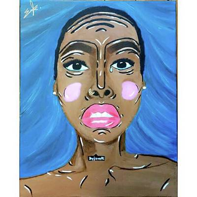 Portrait Painting - Portraits Of A Girl by Emelka Alleyne