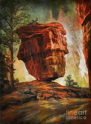 Balanced Rock  Art Print by Andrzej Szczerski