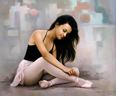 Painting -  Ballerina Dreams by Yoo Choong Yeul