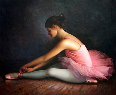 Painting -  Ballerina by Yoo Choong Yeul