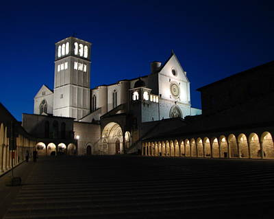 Photograph -  Basilica Of St. Francis by T Guy Spencer