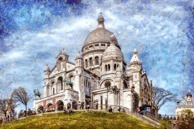 Paris Skyline Royalty-Free and Rights-Managed Images -  Basilique Du Sacre Coeur by Valery Egorov