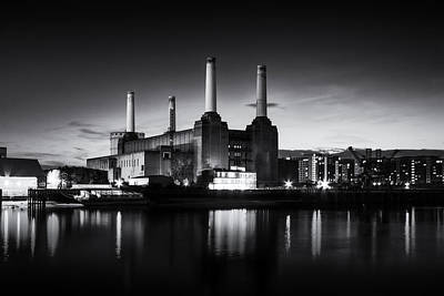 Pink Floyd Wall Art - Photograph -  Battersea Power Station In Monochrome by Ian Hufton