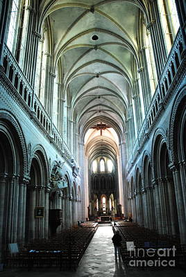 Photograph -  Bayeaux Cathedral Interior by Jacqueline M Lewis