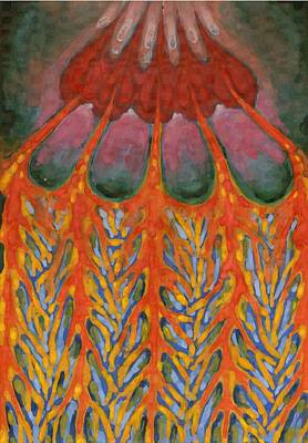 Fantastical Painting -  Becoming Rooted by Wojtek Kowalski