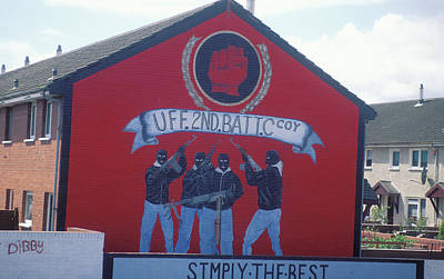 Beach House Signs -  Belfast mural conflict  by Carl Purcell