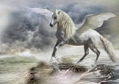 Pegasus Wall Art - Digital Art -  Bella Dante by Trudi Simmonds