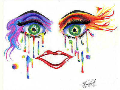 Crying Drawing - Looking Ahead by Ben's Pen