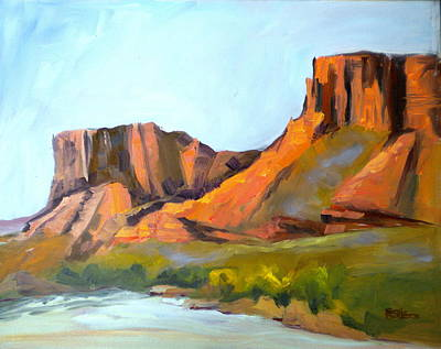 Painting -  Big Bend by Sally Bullers