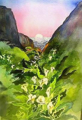 Painting -  Big Sur Calla Lilies by Esther Woods