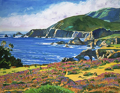 Big Sur Painting -  Big Sur by David Lloyd Glover