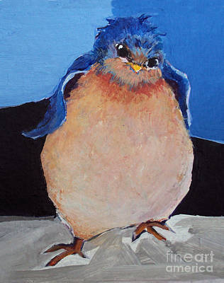 Painting -  Bird With An Attitude by Diane Ursin