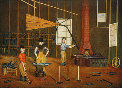 Painting -  Blacksmith Shop by Francis A Beckett
