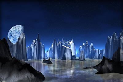 Blue Crystal  Mountain  Art Print