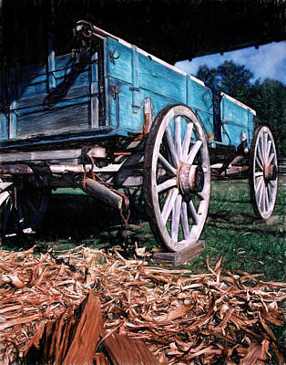 Photograph -  Blue Wagon by David and Carol Kelly