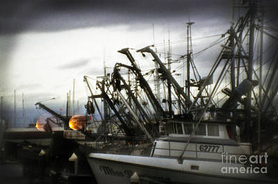 Photograph -  Boats With Sprays Of Light by Clayton Bruster