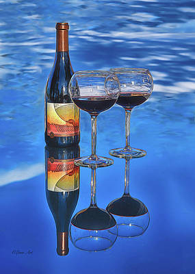 Photograph -  Bottle Of Wine  by OLena Art Brand