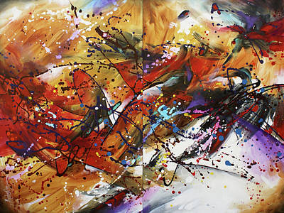 Multi Colored Painting -  ' Boundless ' by Michael Lang