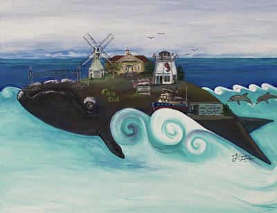 Cape Cod Painting -  Bourne-a Whale Of A Town  by Theresa LaBrecque