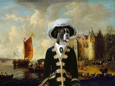 Painting -  Boxer Art Canvas Print - For King And Queen by Sandra Sij