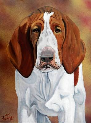Canine Painting -  Bracco Italiano Puppy by Debbie LaFrance