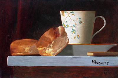 Painting -  Breakfast by John Frederick Peto